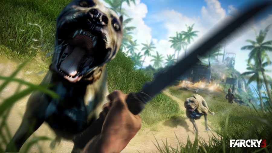 Wild dogs are set loose by many of the game's hostiles.