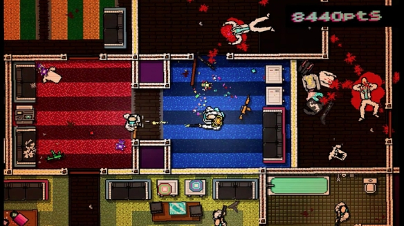 The brutality of Hotline Miami.