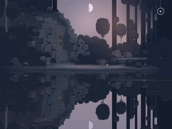 A pond in Superbrothers: Sword & Sworcery EP.